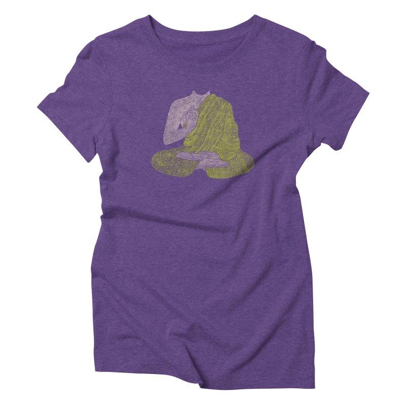 No Mind (Om Mani Padme Hum mantra) Women's Triblend T-Shirt by Joyheartist