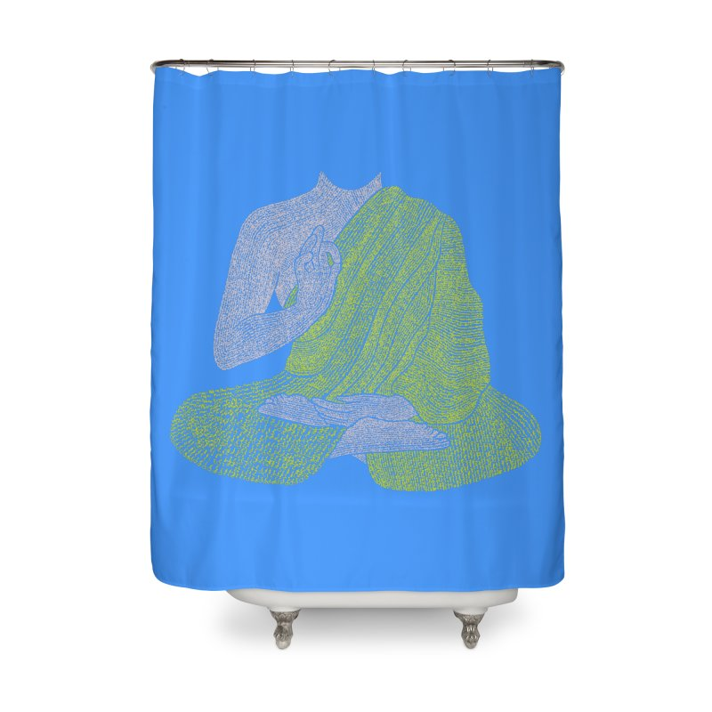 No Mind (Om Mani Padme Hum mantra) Home Shower Curtain by Joyheartist