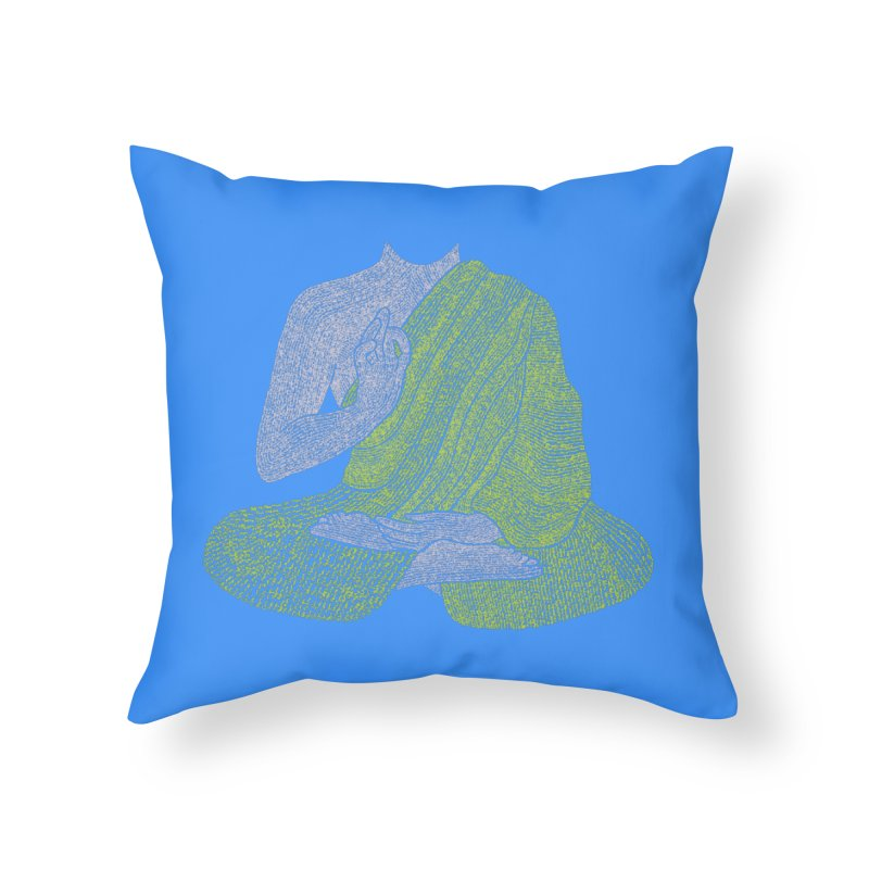 No Mind (Om Mani Padme Hum mantra) Home Throw Pillow by Joyheartist