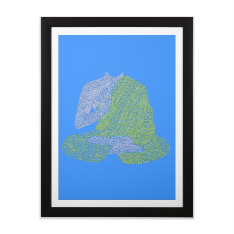 No Mind (Om Mani Padme Hum mantra) Home Framed Fine Art Print by Joyheartist