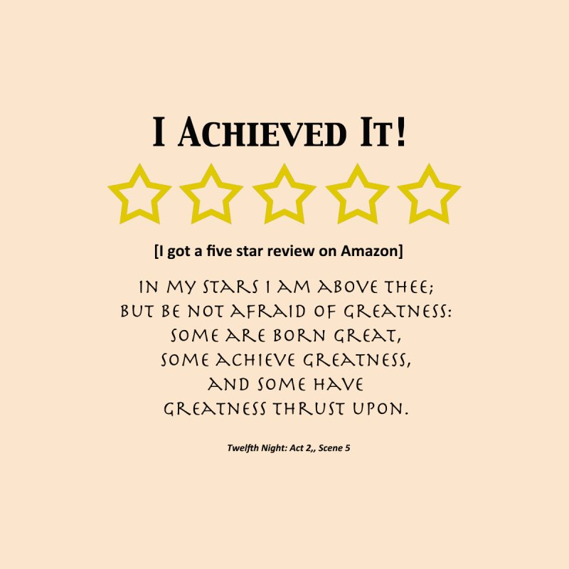 I Achieved It - 5 Stars on Amazon by Joy on Paper's Artist Shop
