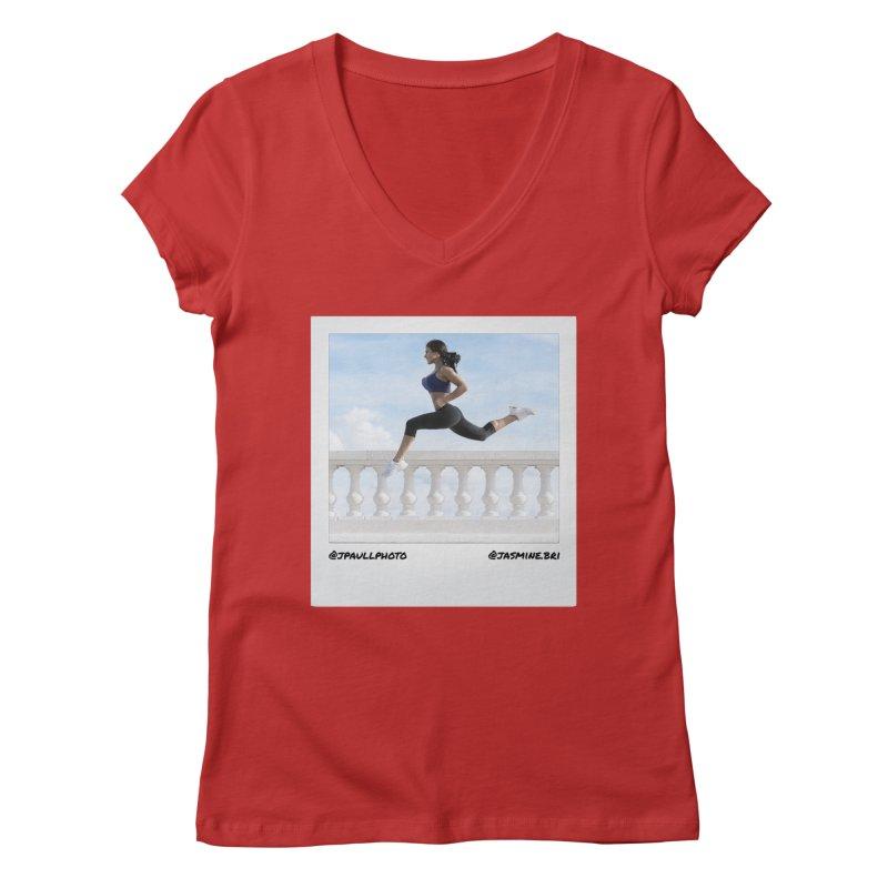 Jasmine Run Women's V-Neck by jpaullphoto's Artist Shop