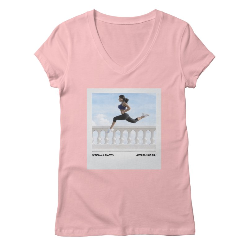 Jasmine Run Women's V-Neck by jpaullphoto's Artist Shop