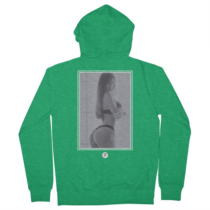 Brittany M. Men's French Terry Zip-Up Hoody by jpaullphoto's Artist Shop
