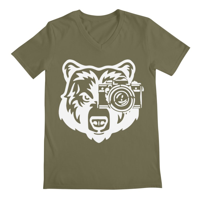 Big Bear Men's Regular V-Neck by jpaullphoto's Artist Shop