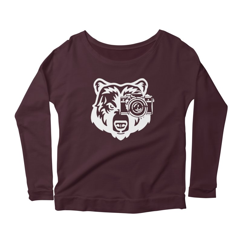 Big Bear Women's Scoop Neck Longsleeve T-Shirt by jpaullphoto's Artist Shop