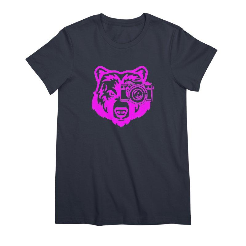 Pink Bear Big Women's Premium T-Shirt by jpaullphoto's Artist Shop