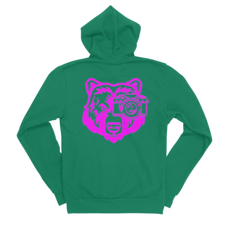 Pink Bear Big Men's Sponge Fleece Zip-Up Hoody by jpaullphoto's Artist Shop