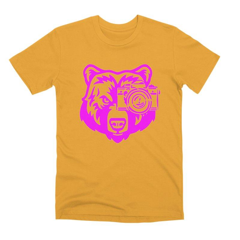 Pink Bear Big Men's Premium T-Shirt by jpaullphoto's Artist Shop