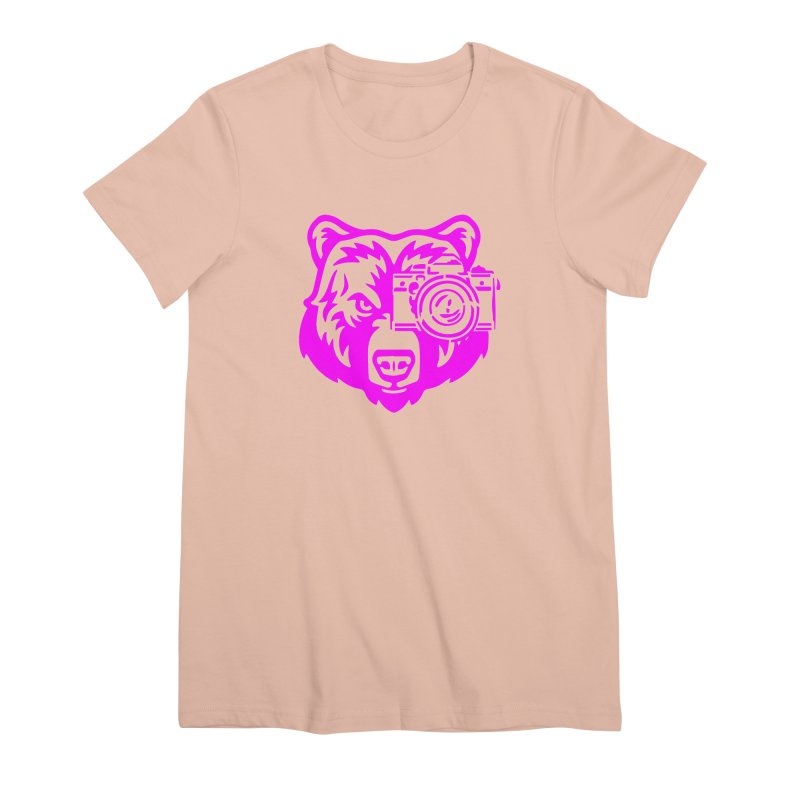 Pink Bear Big Women's Premium T-Shirt by jpaullphoto's Artist Shop