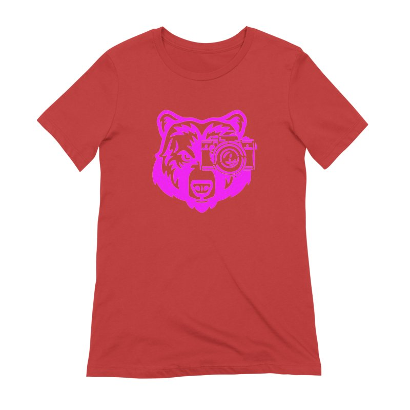 Pink Bear Big Women's Extra Soft T-Shirt by jpaullphoto's Artist Shop