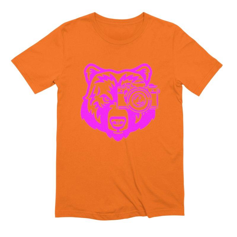Pink Bear Big Men's Extra Soft T-Shirt by jpaullphoto's Artist Shop