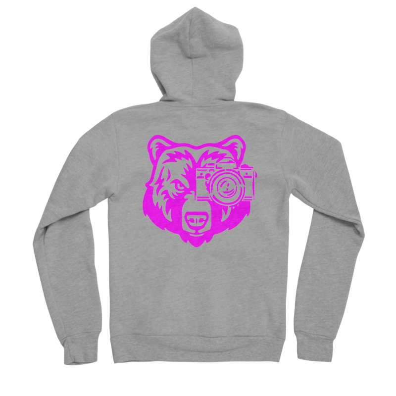 Pink Bear Big Men's Sponge Fleece Zip-Up Hoody by jpaullphoto's Artist Shop