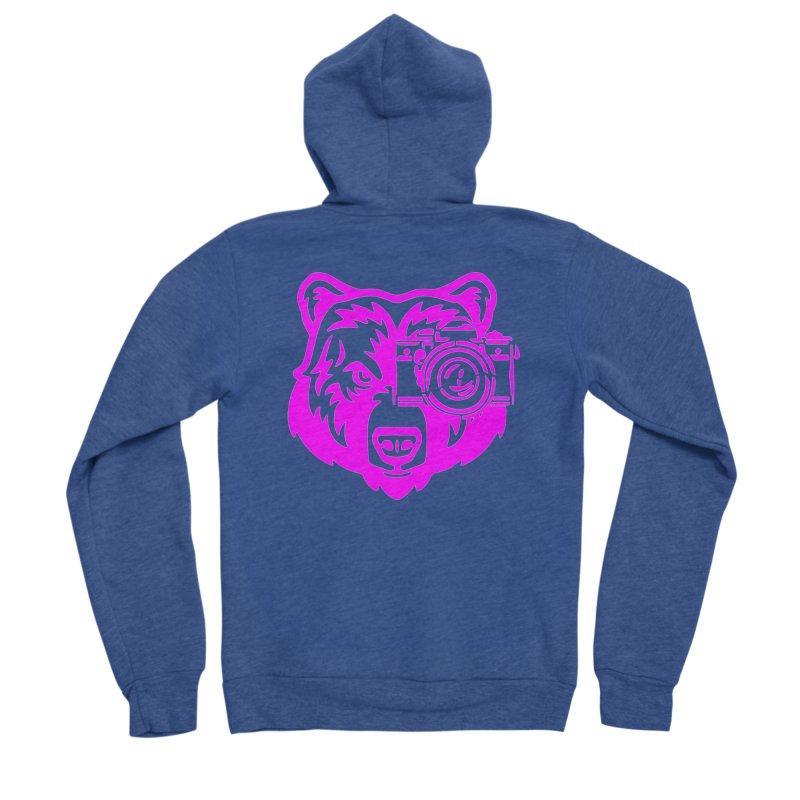 Pink Bear Big Women's Sponge Fleece Zip-Up Hoody by jpaullphoto's Artist Shop