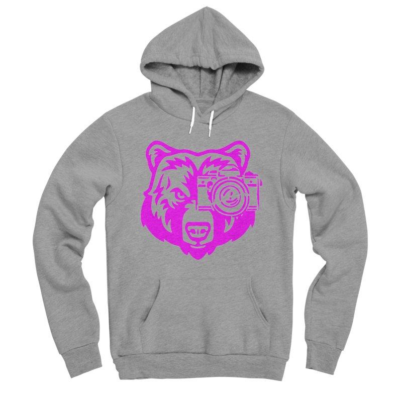 Pink Bear Big Men's Sponge Fleece Pullover Hoody by jpaullphoto's Artist Shop