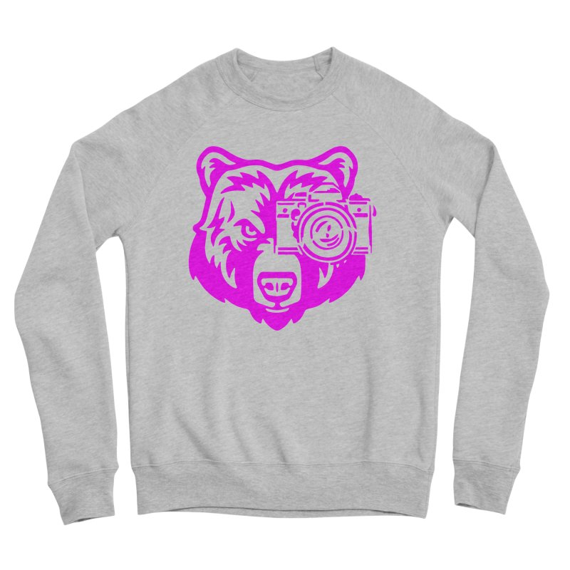 Pink Bear Big Men's Sponge Fleece Sweatshirt by jpaullphoto's Artist Shop