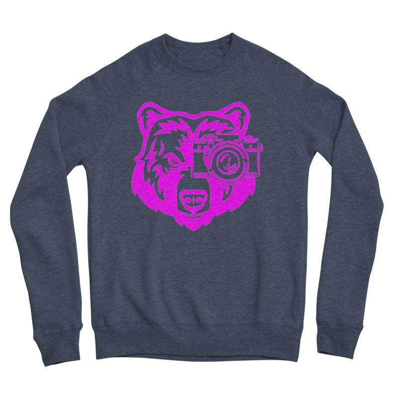 Pink Bear Big Men's Sponge Fleece Sweatshirt by jpaullphoto's Artist Shop