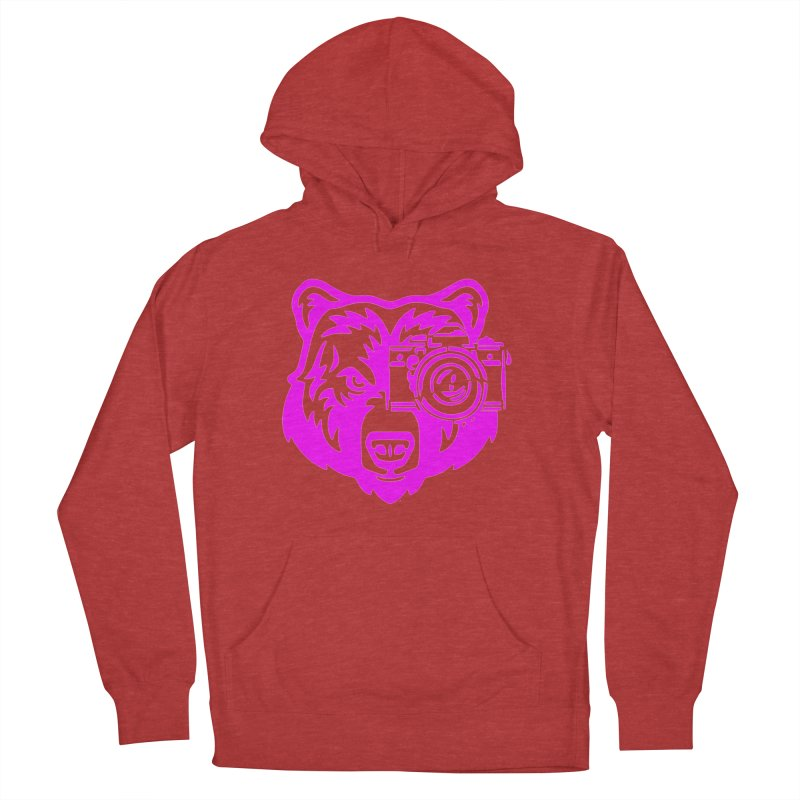 Pink Bear Big Women's French Terry Pullover Hoody by jpaullphoto's Artist Shop