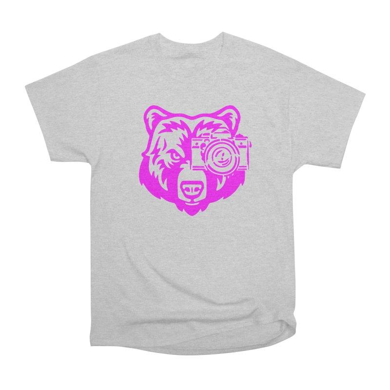 Pink Bear Big Women's Heavyweight Unisex T-Shirt by jpaullphoto's Artist Shop