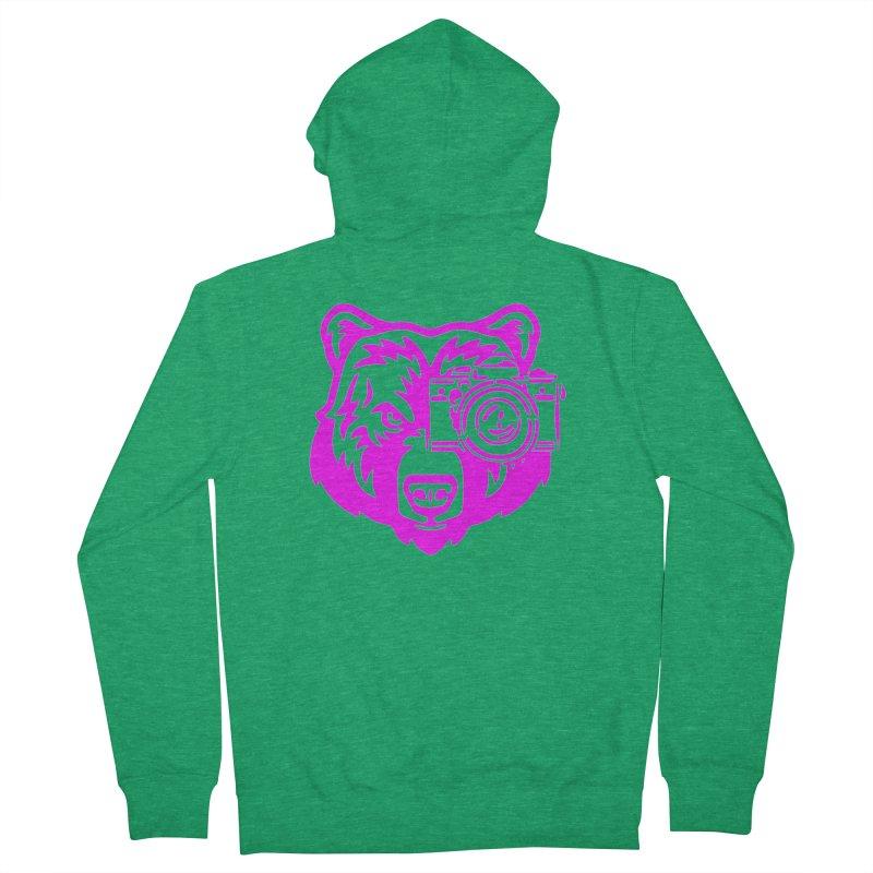 Pink Bear Big Men's Zip-Up Hoody by jpaullphoto's Artist Shop
