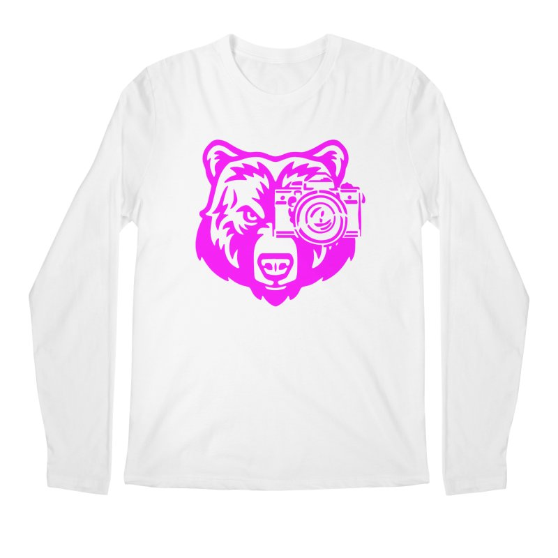Pink Bear Big Men's Regular Longsleeve T-Shirt by jpaullphoto's Artist Shop