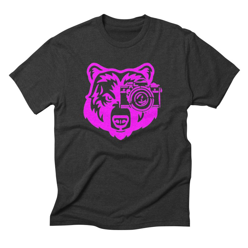 Pink Bear Big Men's Triblend T-Shirt by jpaullphoto's Artist Shop