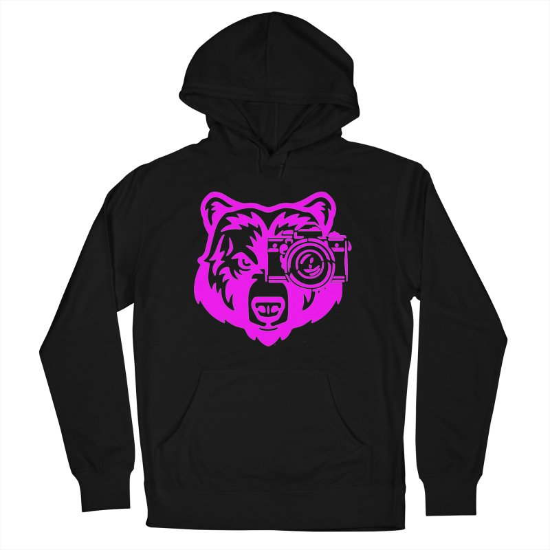 Pink Bear Big Men's French Terry Pullover Hoody by jpaullphoto's Artist Shop