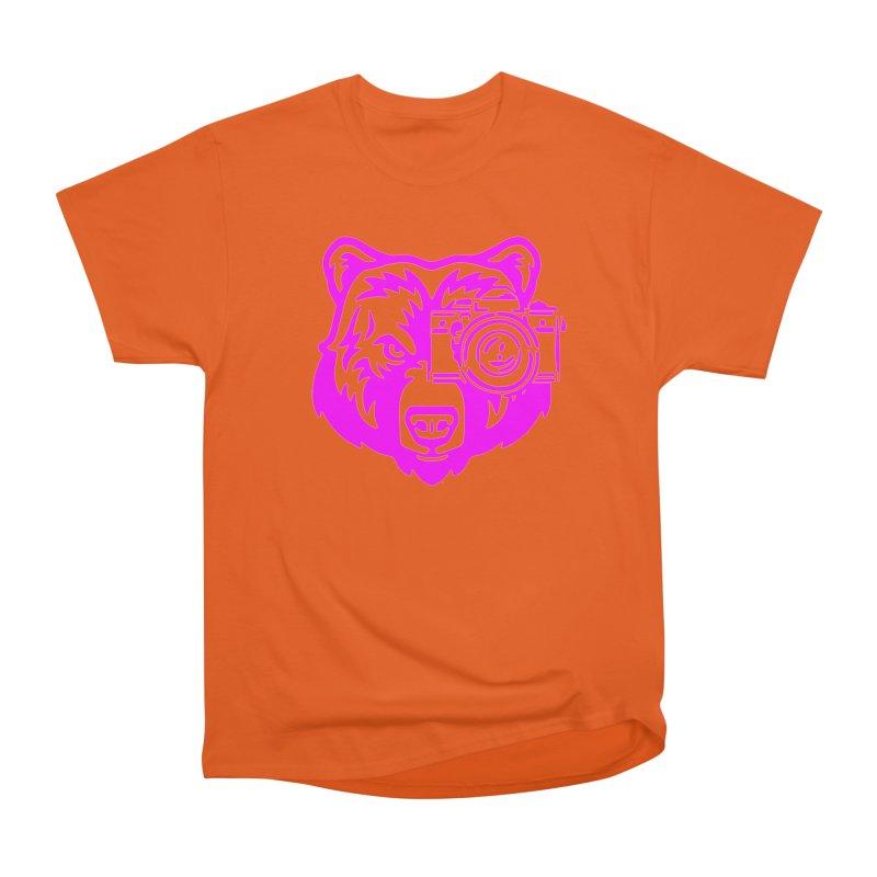 Pink Bear Big Men's Heavyweight T-Shirt by jpaullphoto's Artist Shop