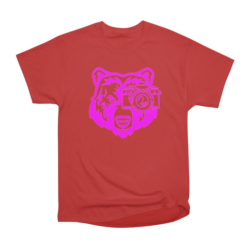 Pink Bear Big Women's Heavyweight Unisex T-Shirt by jpaullphoto's Artist Shop
