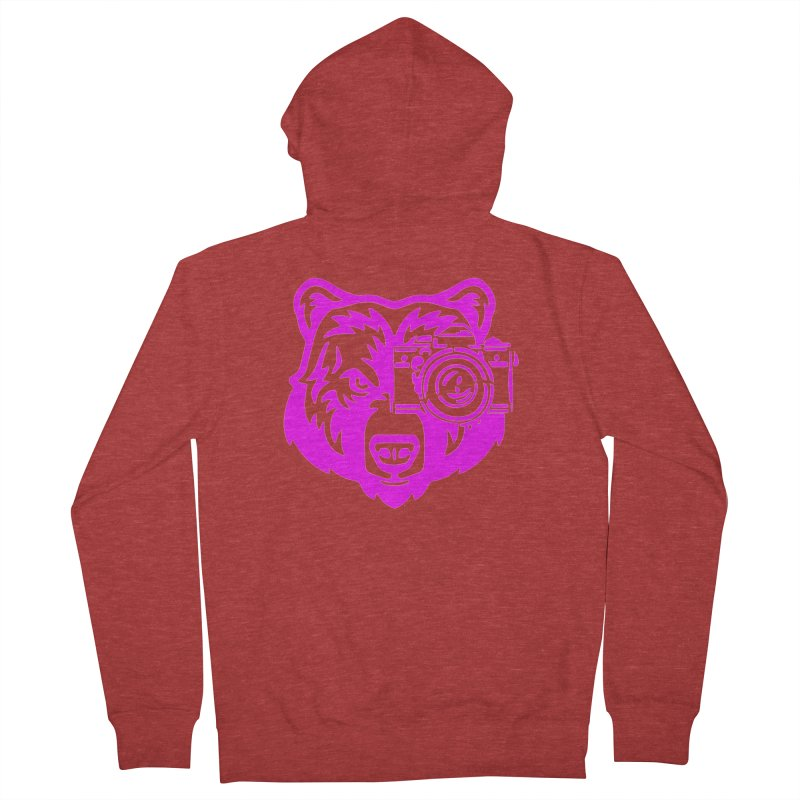 Pink Bear Big Women's French Terry Zip-Up Hoody by jpaullphoto's Artist Shop