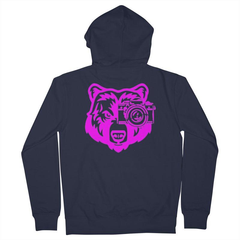 Pink Bear Big Women's French Terry Zip-Up Hoody by jpaullphoto's Artist Shop