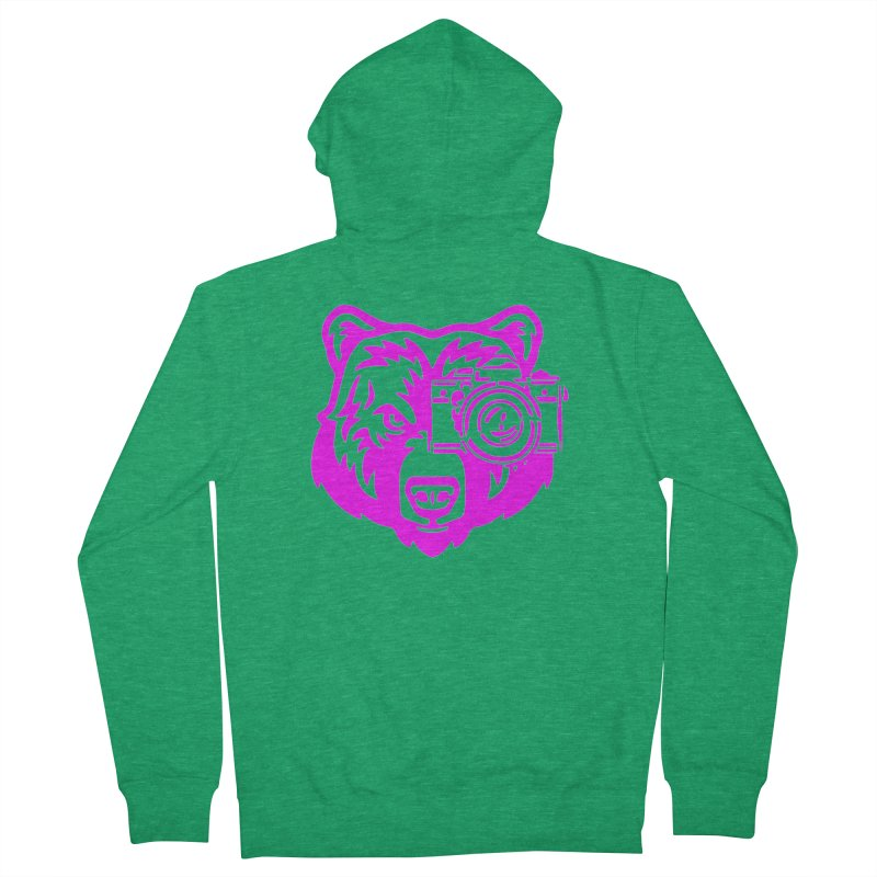 Pink Bear Big Men's Zip-Up Hoody by jpaullphoto's Artist Shop