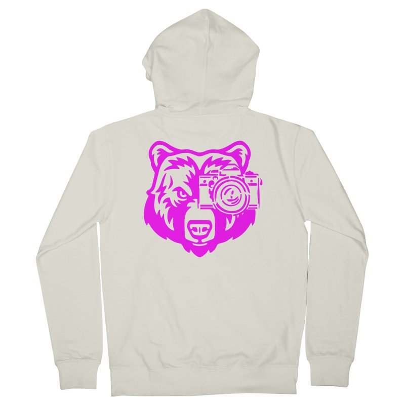 Pink Bear Big Men's French Terry Zip-Up Hoody by jpaullphoto's Artist Shop