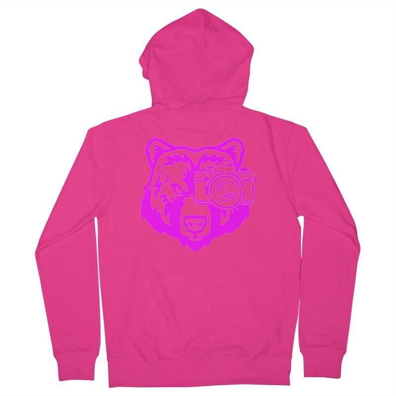 Pink Bear Big Men's French Terry Zip-Up Hoody by jpaullphoto's Artist Shop