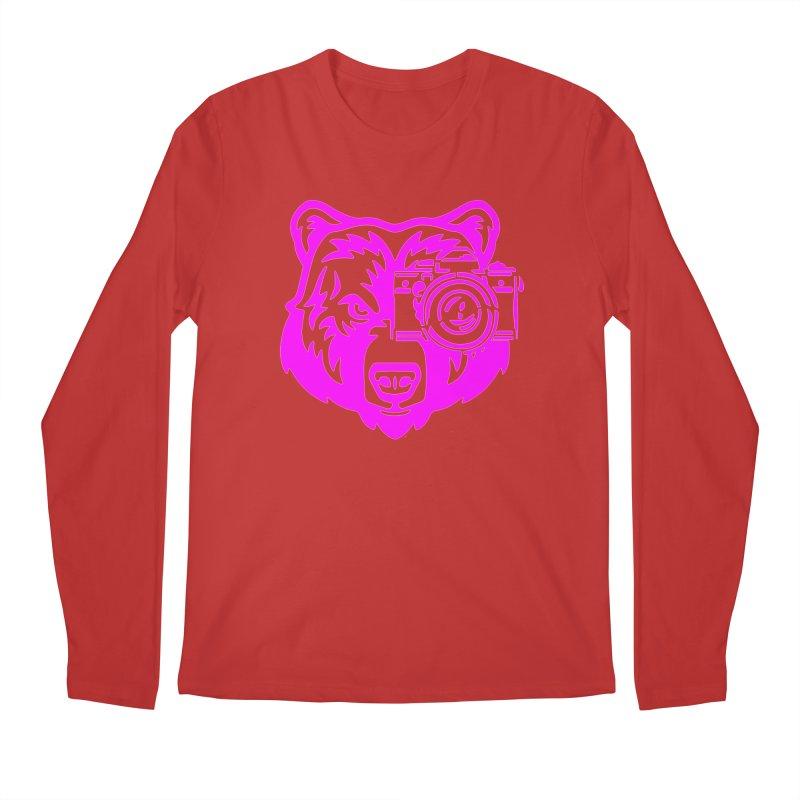 Pink Bear Big Men's Regular Longsleeve T-Shirt by jpaullphoto's Artist Shop