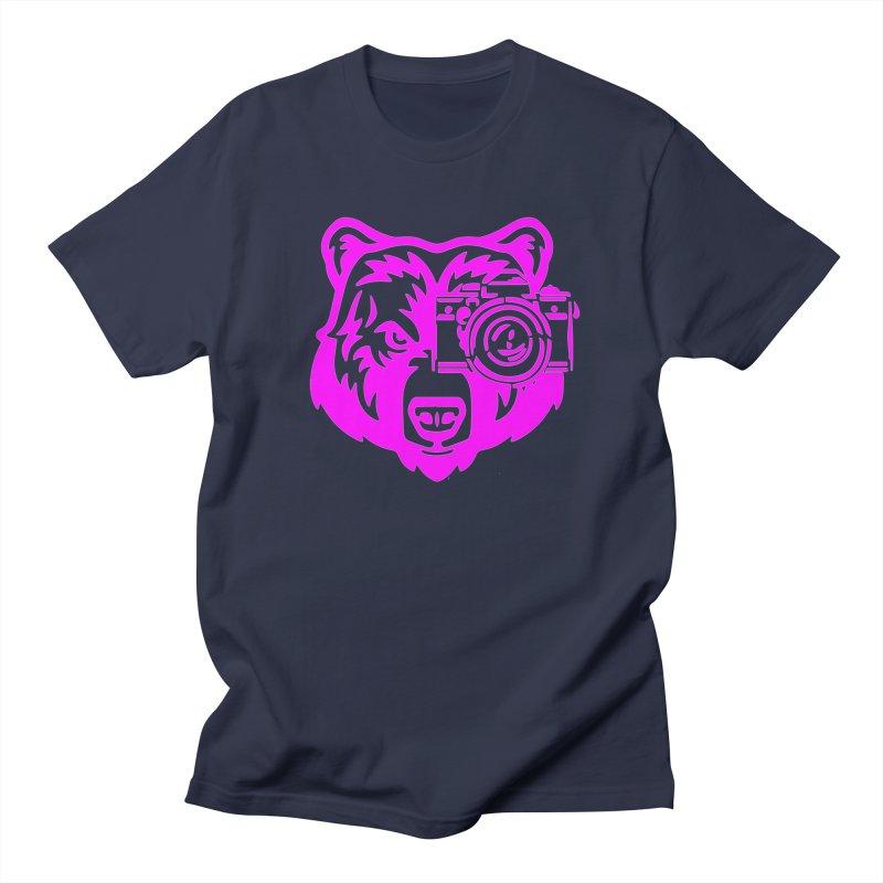 Pink Bear Big Men's T-Shirt by jpaullphoto's Artist Shop