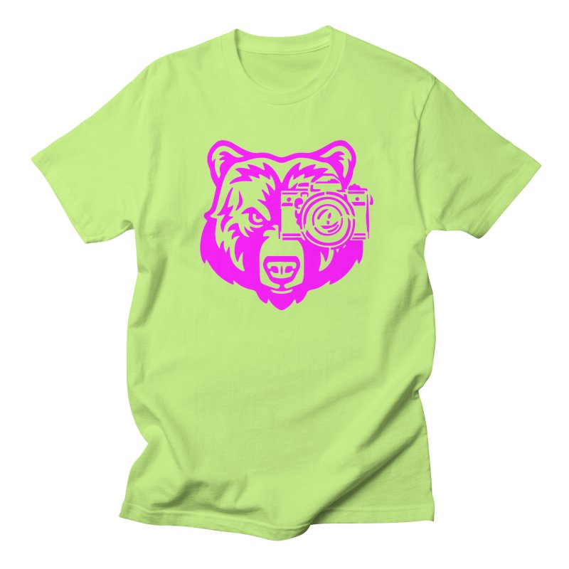 Pink Bear Big Men's T-Shirt by jpaullphoto's Artist Shop