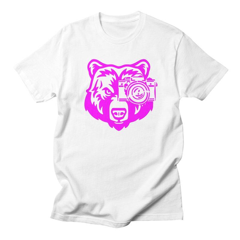 Pink Bear Big Men's Regular T-Shirt by jpaullphoto's Artist Shop