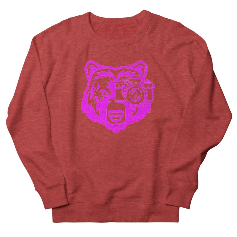 Pink Bear Big Women's French Terry Sweatshirt by jpaullphoto's Artist Shop
