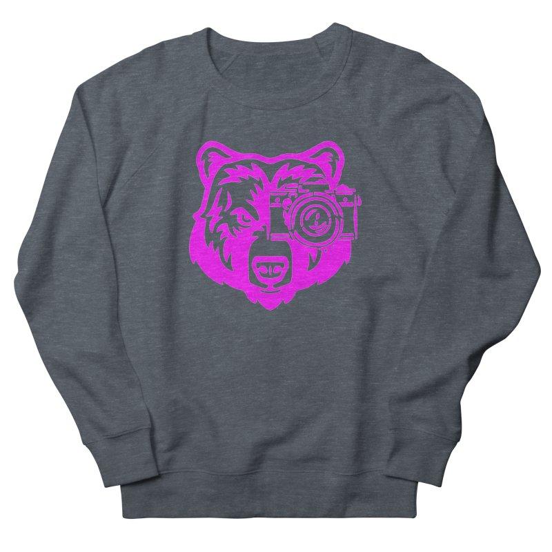 Pink Bear Big Men's French Terry Sweatshirt by jpaullphoto's Artist Shop