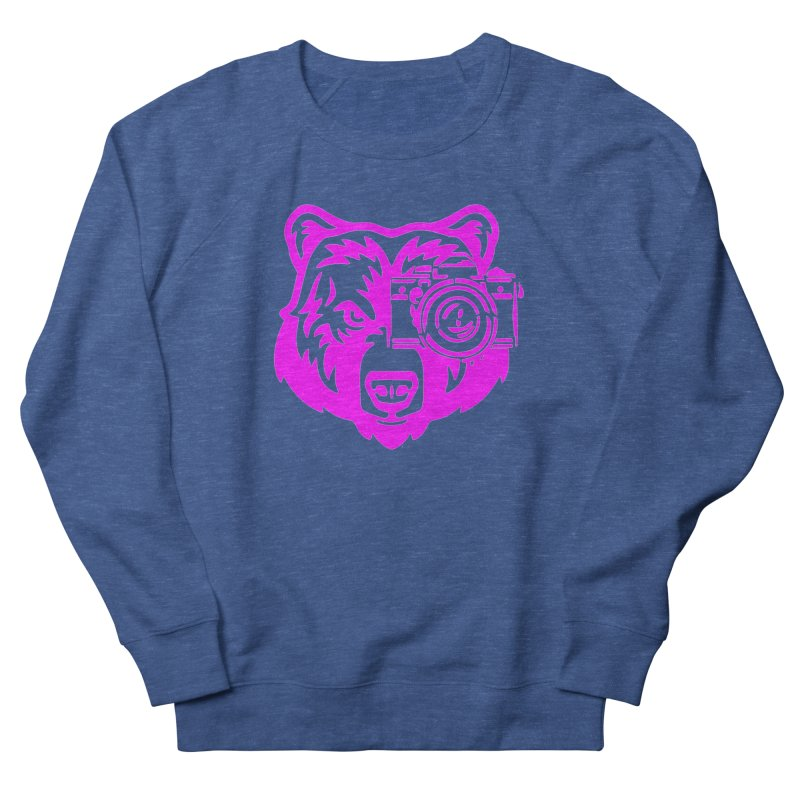 Pink Bear Big Men's French Terry Sweatshirt by jpaullphoto's Artist Shop