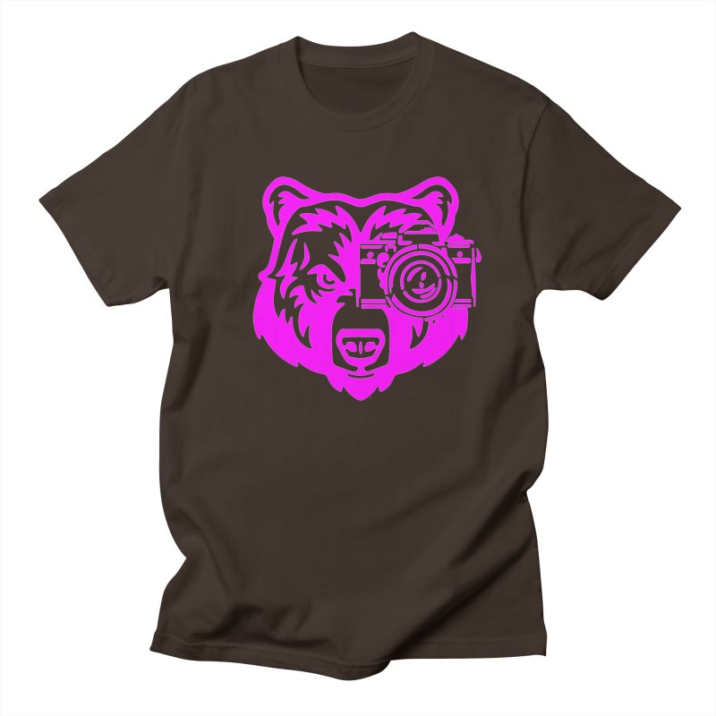 Pink Bear Big Men's Regular T-Shirt by jpaullphoto's Artist Shop