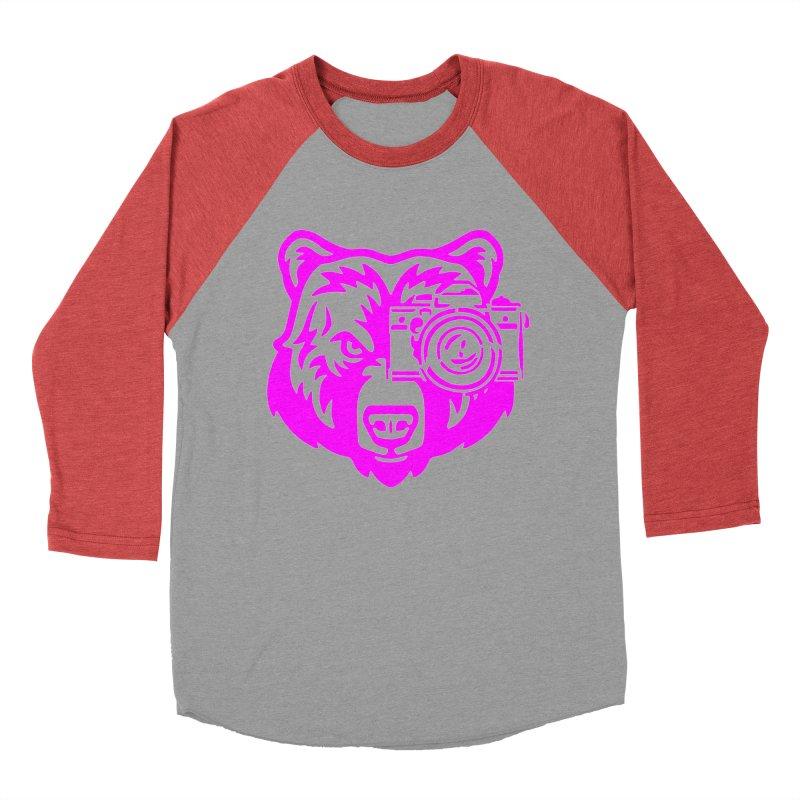 Pink Bear Big Women's Baseball Triblend Longsleeve T-Shirt by jpaullphoto's Artist Shop