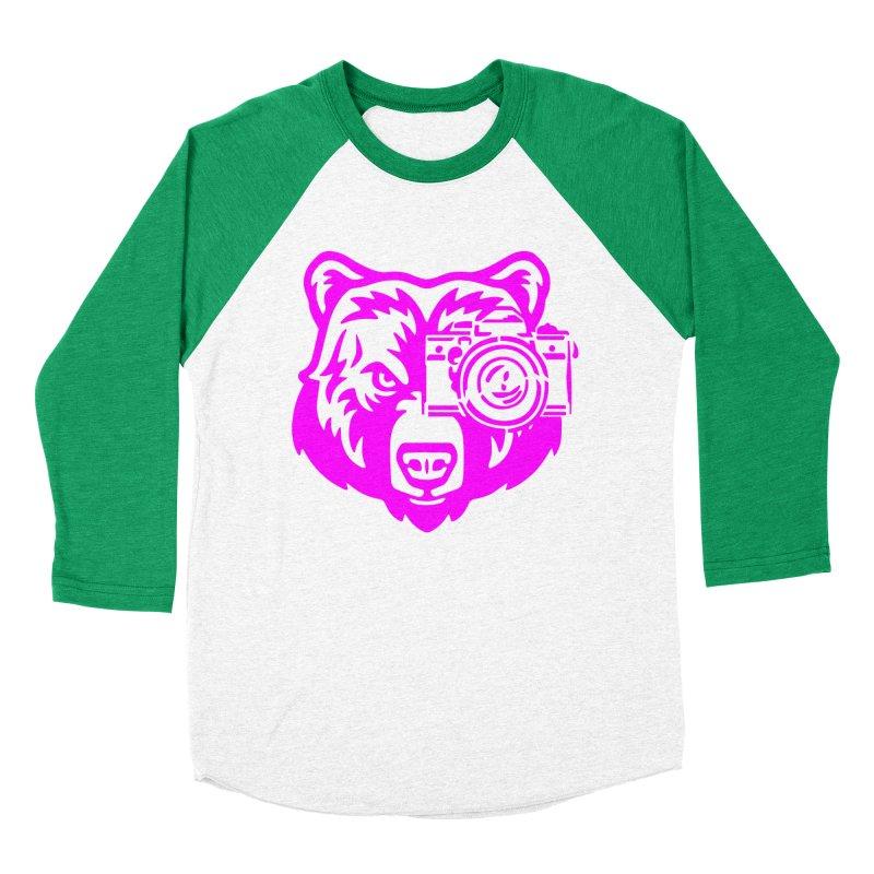 Pink Bear Big Men's Baseball Triblend Longsleeve T-Shirt by jpaullphoto's Artist Shop
