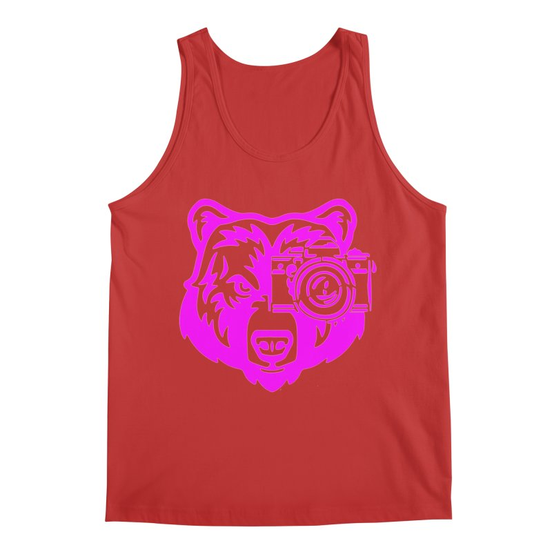 Pink Bear Big Men's Tank by jpaullphoto's Artist Shop