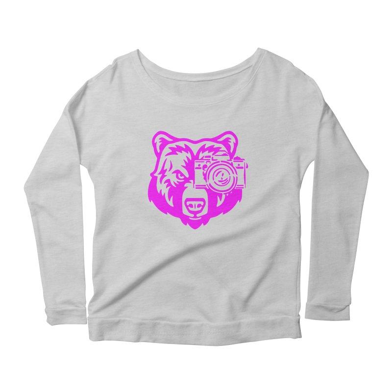 Pink Bear Big Women's Scoop Neck Longsleeve T-Shirt by jpaullphoto's Artist Shop