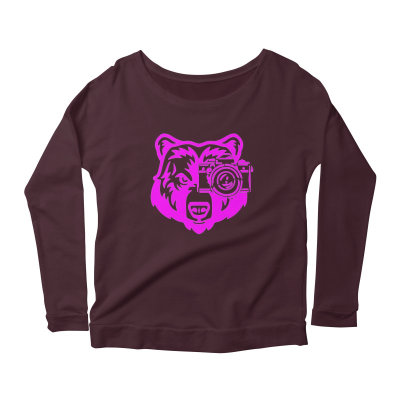 Pink Bear Big Women's Longsleeve T-Shirt by jpaullphoto's Artist Shop