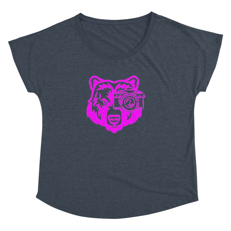 Pink Bear Big Women's Dolman Scoop Neck by jpaullphoto's Artist Shop