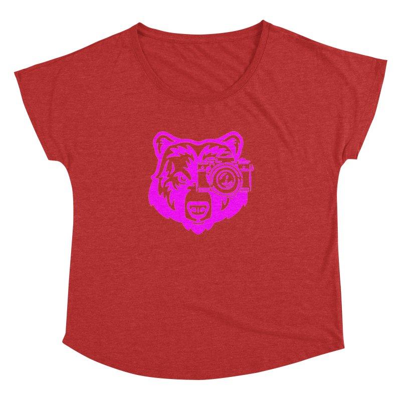 Pink Bear Big Women's Scoop Neck by jpaullphoto's Artist Shop