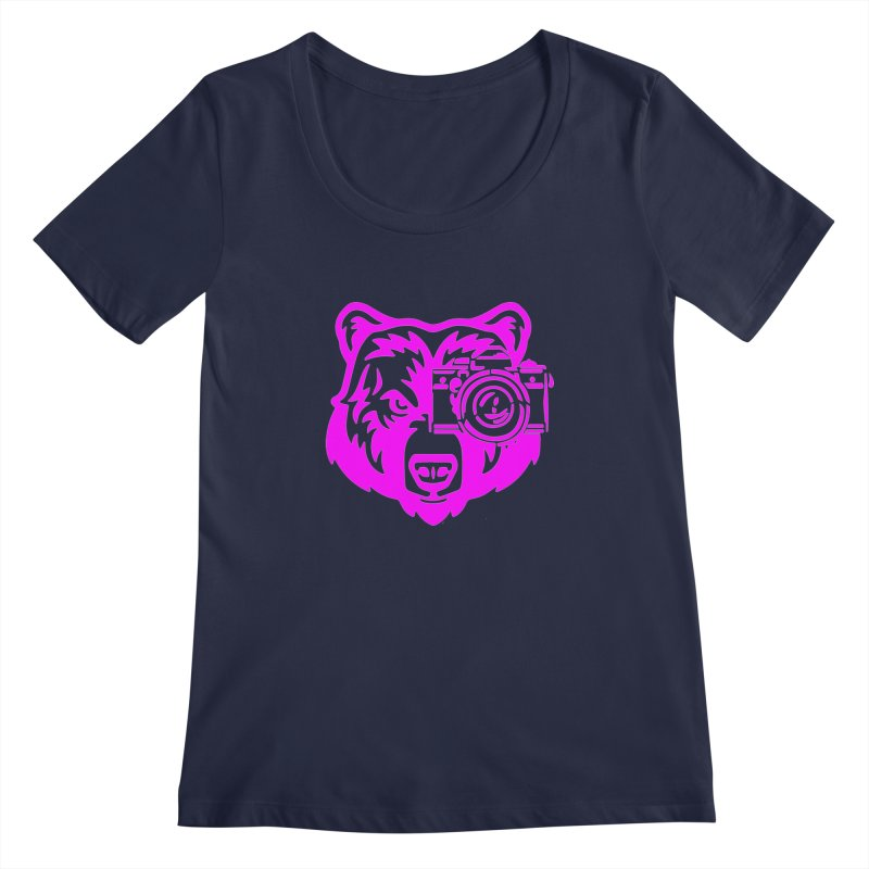 Pink Bear Big Women's Regular Scoop Neck by jpaullphoto's Artist Shop